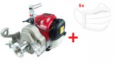 Motor-Spillwinde, Honda 1,36 PS, 35ccm, GX 35 + 5x Mundschutz