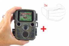 Mini 16 MP Wildkamera, 32 GB, Full HD + 3x Mundschutz zusätzlich