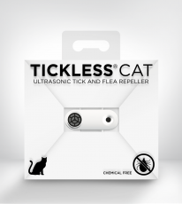 tickless cat white Ultraschallzeckenvertreiber