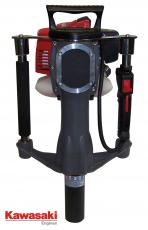 Motor-Pfahlramme,  mit Kawasaki Motor TJ-35E, 1,0 kw/1,38 PS, 35ccm