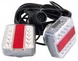 LED Anhänger-Vierfunktionsl. 7,5 m, Magnet, 13poligem Stecker