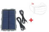 Solar Li/Ion Akku 1500mAh für Wildkameras + 3x Mundschutz geschenkt