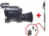Nachsatzgerät Sytong HT-066 digitales Nachtsichtgerät inkl. Alu-Zielstock - Sparset