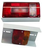 Beleuchtungshalterset für Heckträger Korb grau oder verzinkt